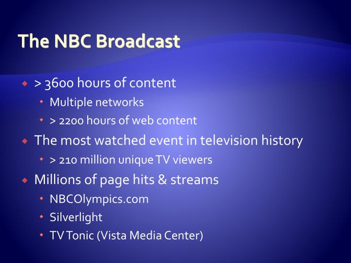 The NBC Broadcast