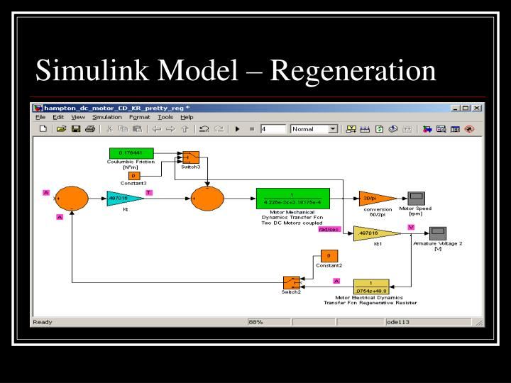 Simulink Model – Regeneration