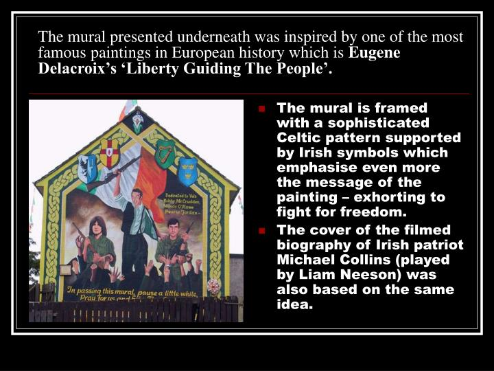 The mural presented underneath was inspired by one of the most famous paintings in European history which is