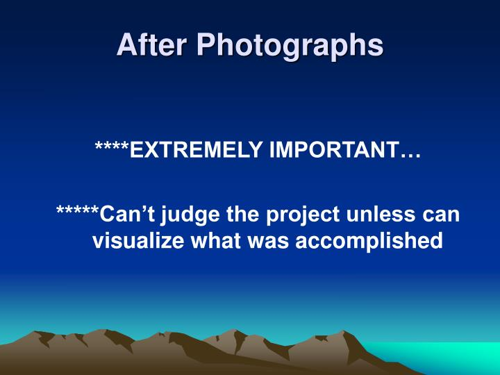 After Photographs