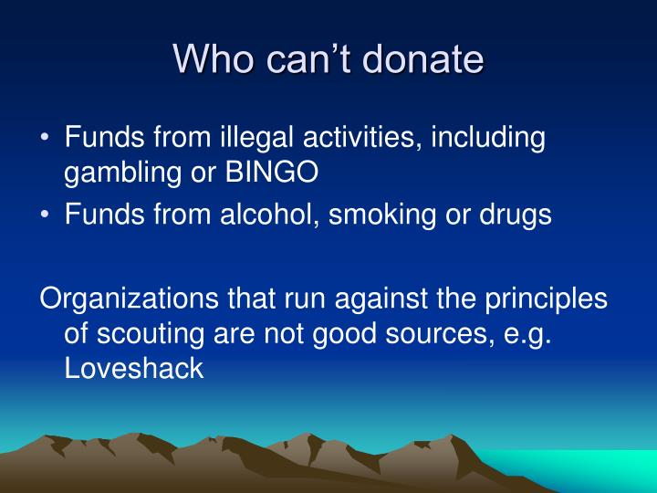 Who can't donate