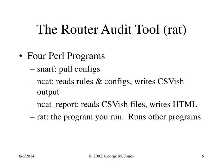 The Router Audit Tool (rat)