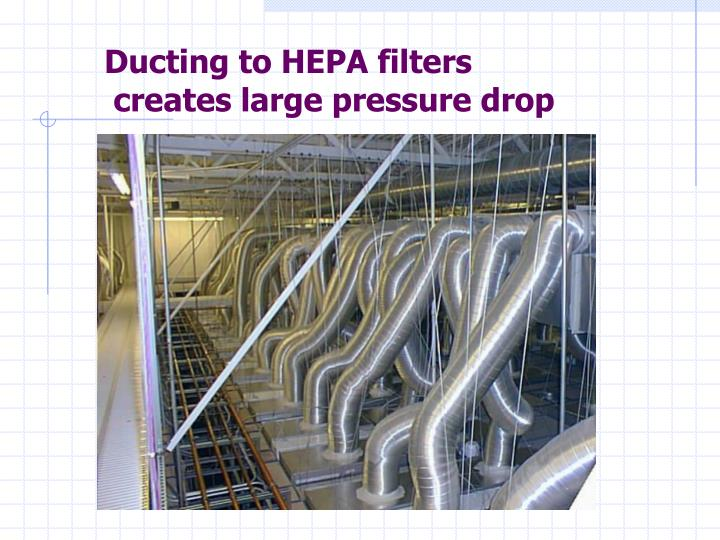 Ducting to HEPA filters