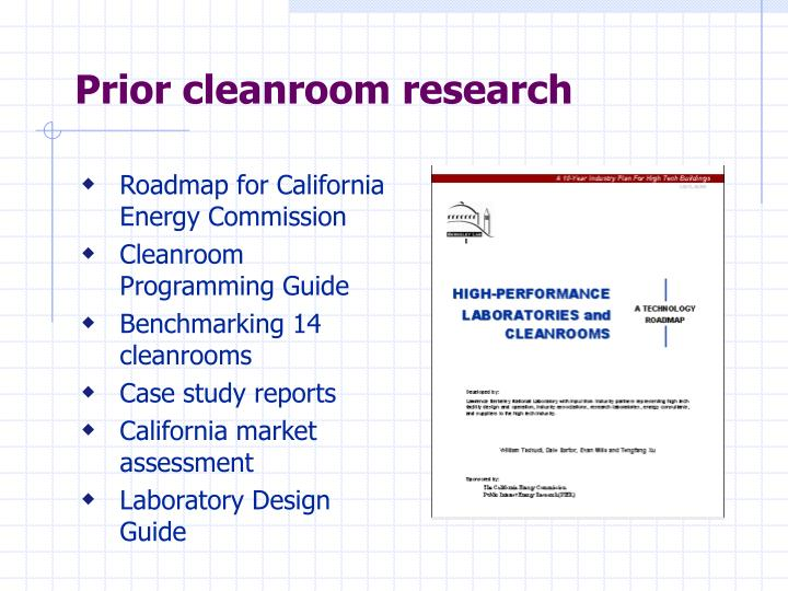 Prior cleanroom research