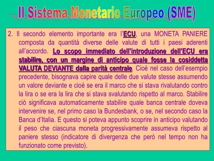 Il Sistema Monetario Europeo (SME)
