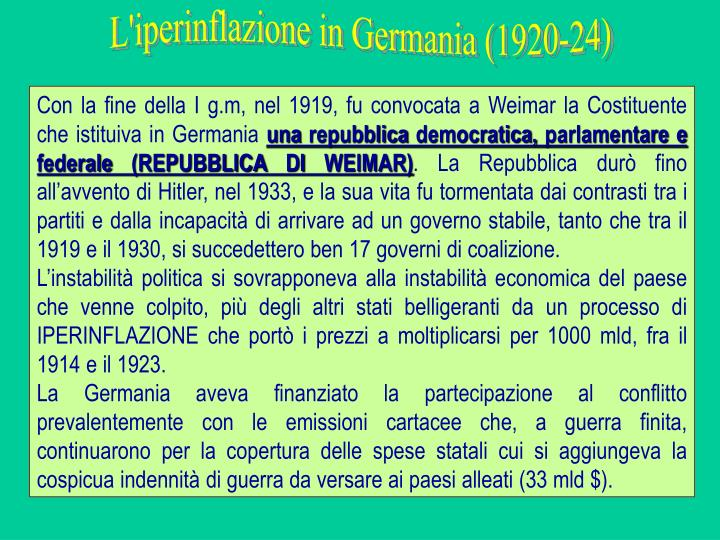 L'iperinflazione in Germania (1920-24)