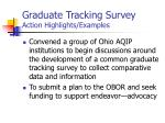 graduate tracking survey action highlights examples