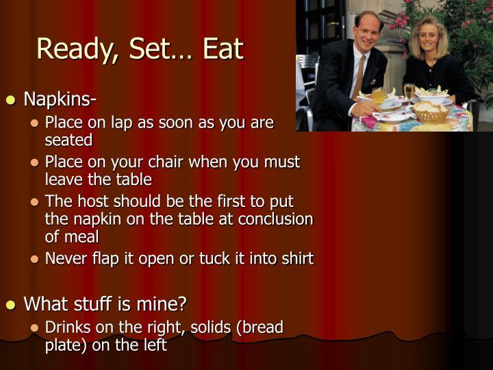 Ready, Set… Eat