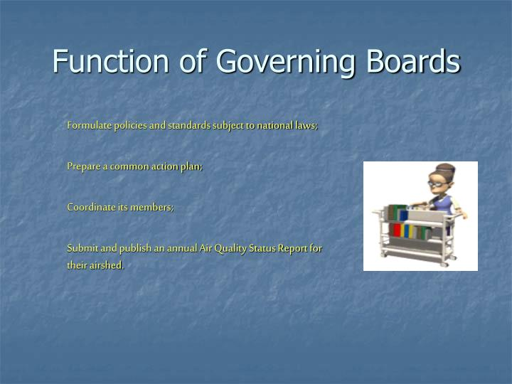 Function of Governing Boards