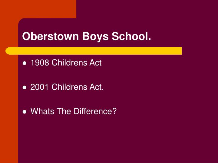 Oberstown Boys School.