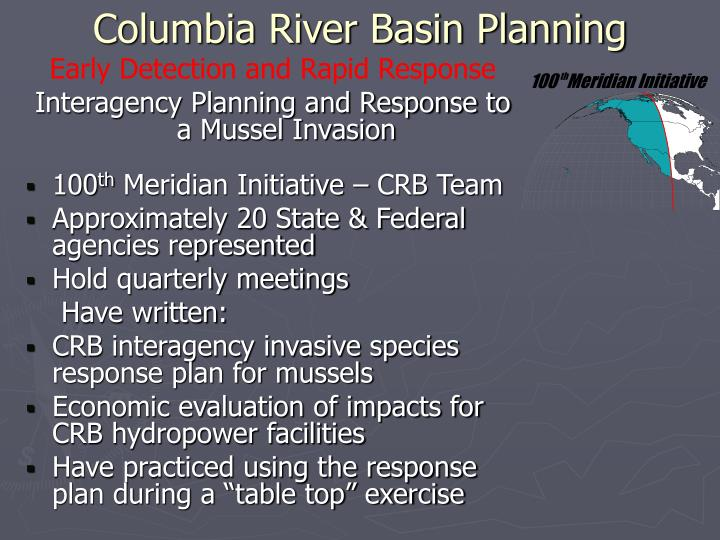 Columbia River Basin Planning