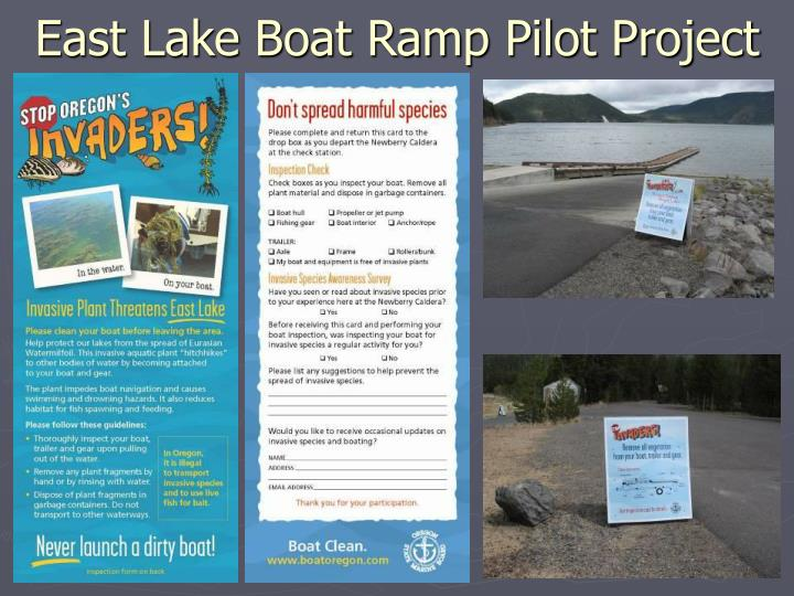 East Lake Boat Ramp Pilot Project