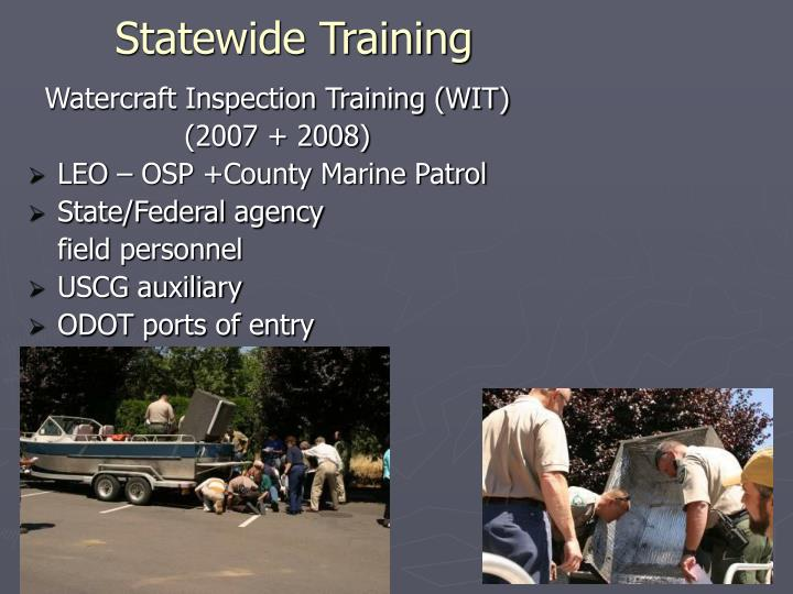 Statewide Training