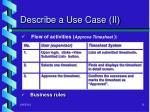 describe a use case ii