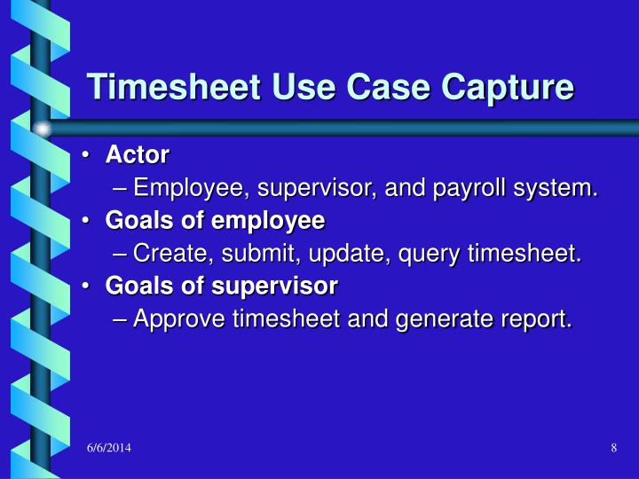 Timesheet Use Case Capture