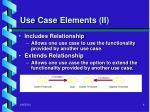 use case elements ii