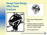 omega tube design offers some solutions
