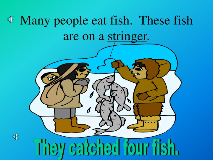 Many people eat fish.  These fish are on a