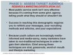 phase 3 assess target audience2