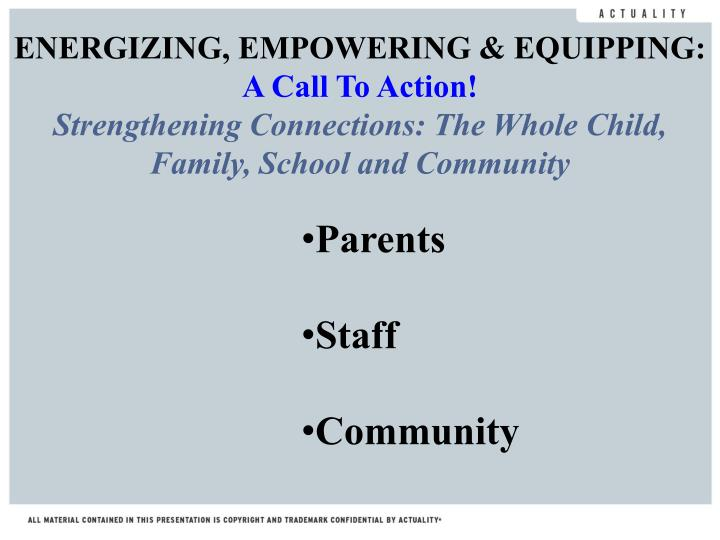 ENERGIZING, EMPOWERING & EQUIPPING: