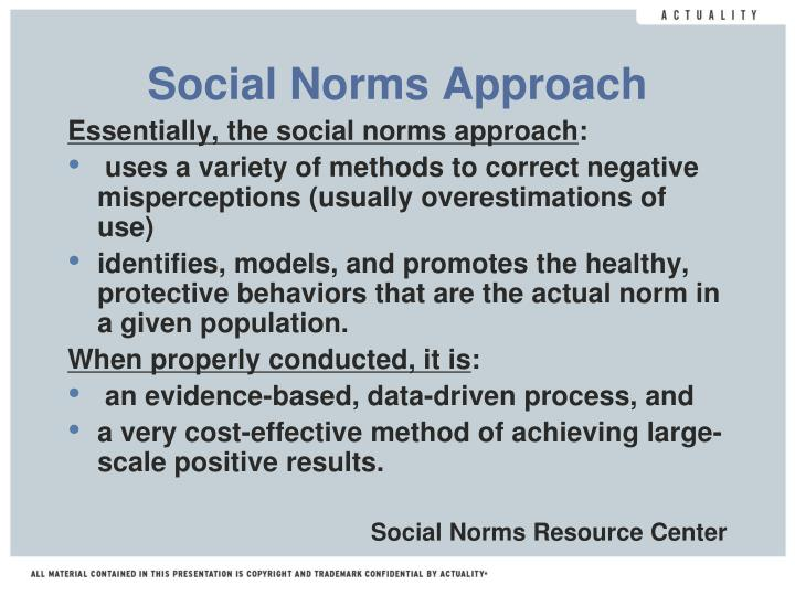Social Norms Approach