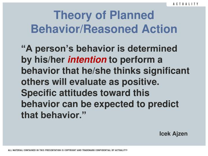 """A person's behavior is determined by his/her"