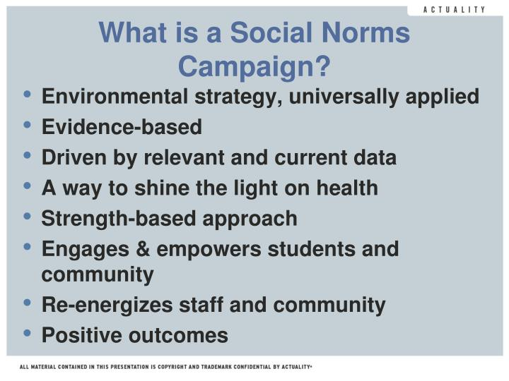What is a Social Norms Campaign?