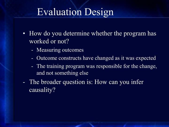 Evaluation Design