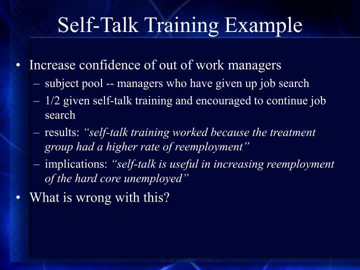 Self-Talk Training Example
