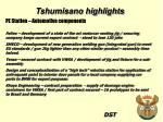 tshumisano highlights