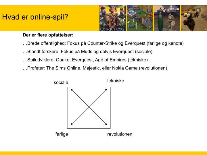 Hvad er online-spil?