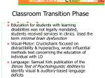 classroom transition phase