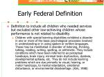 early federal definition