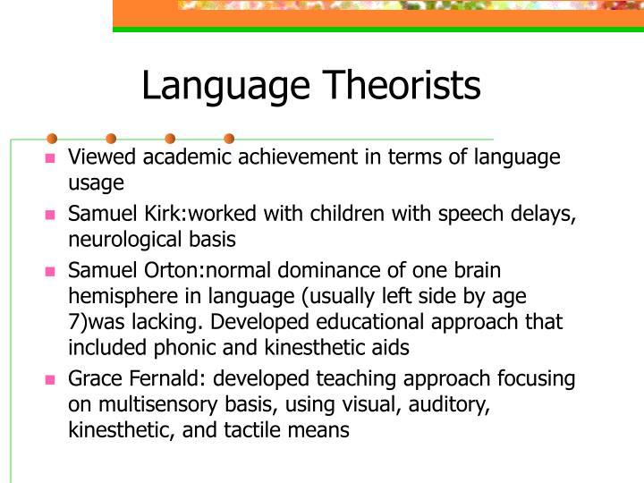 Language Theorists