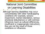 national joint committee on learning disabilities1