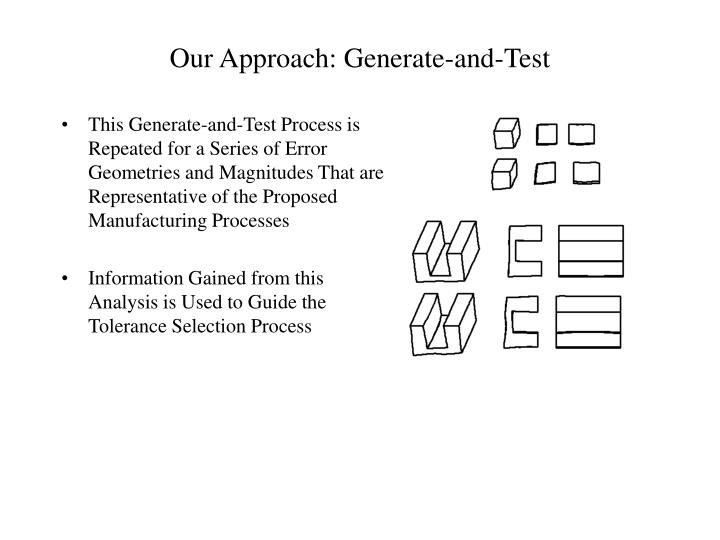 Our Approach: Generate-and-Test