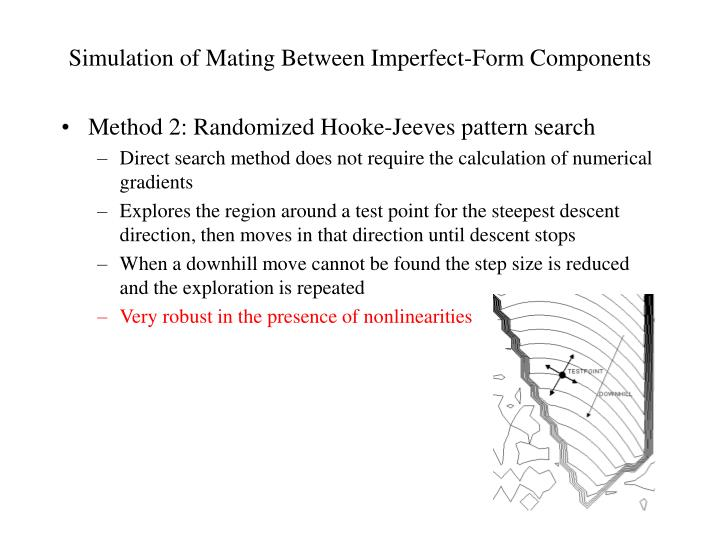 Simulation of Mating Between Imperfect-Form Components