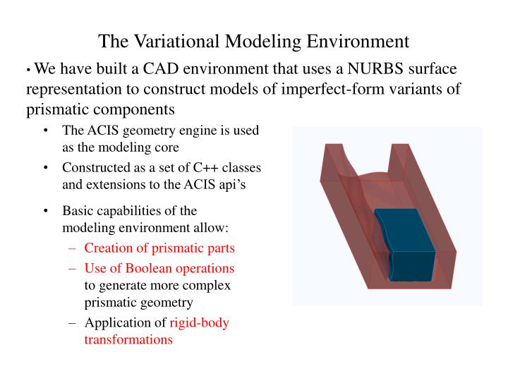 The Variational Modeling Environment