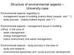 structure of environmental aspects university case