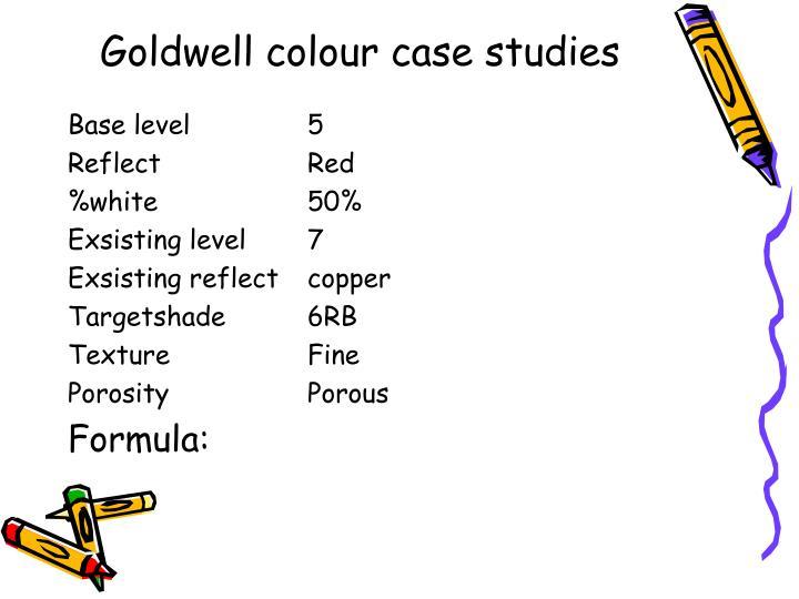 Goldwell colour case studies