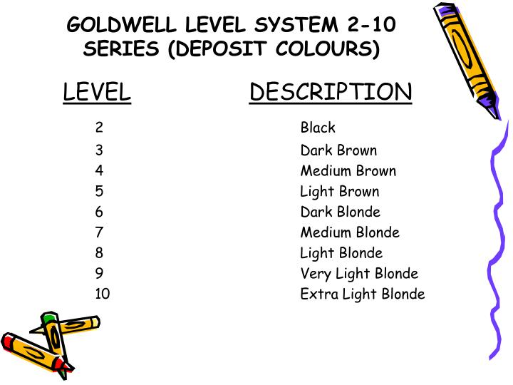 GOLDWELL LEVEL SYSTEM 2-10 SERIES (DEPOSIT COLOURS)