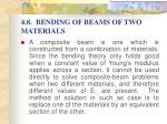 4 8 bending of beams of two materials