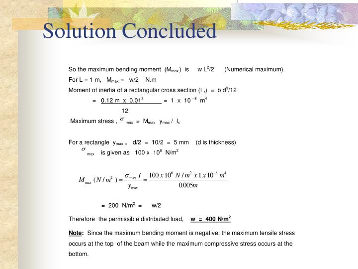 Solution Concluded