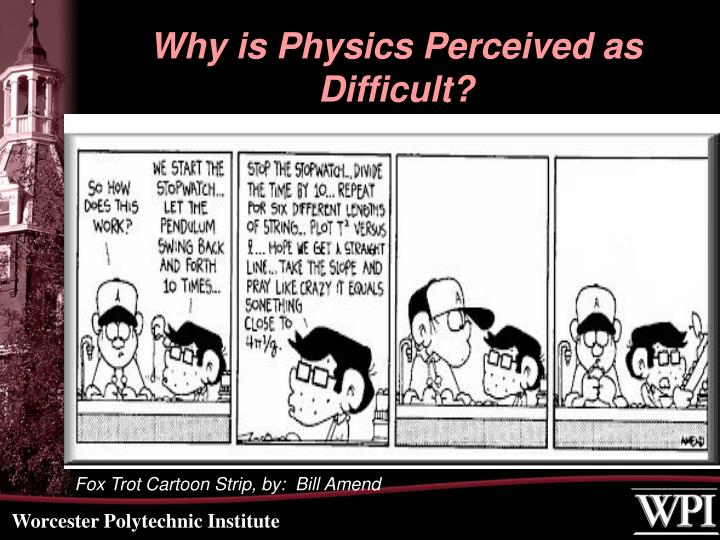 Why is Physics Perceived as Difficult?