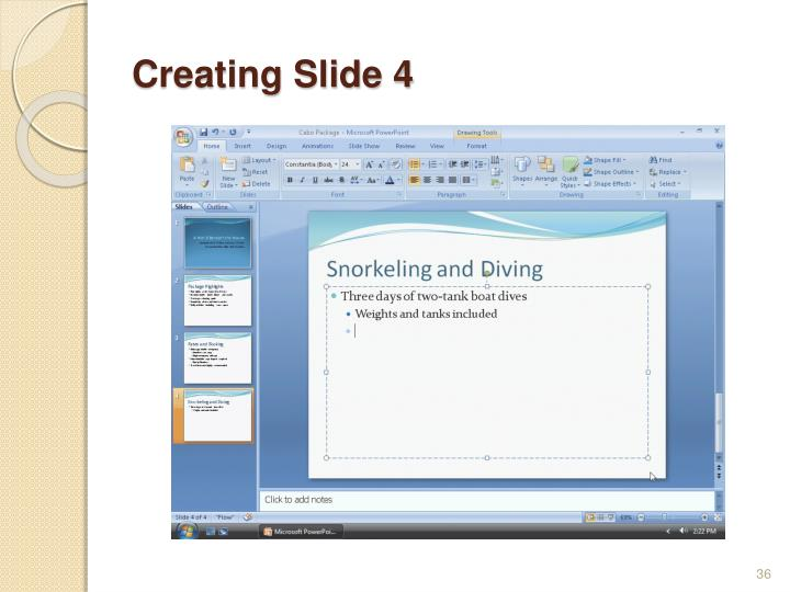 Creating Slide 4