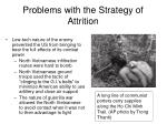 problems with the strategy of attrition2