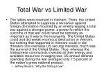 total war vs limited war2