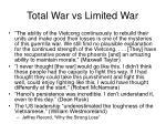 total war vs limited war3