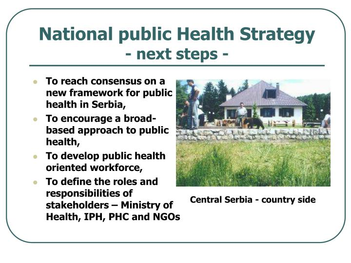 National public Health Strategy