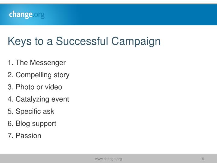 Keys to a Successful Campaign